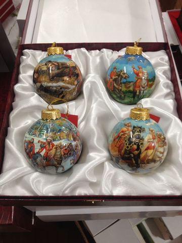 Набор шаров новогодних ( полная роспись)
