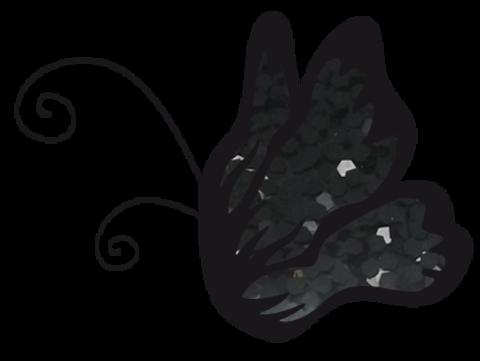 Эль Коразон Глиттеры 26 черный глиттер крупный 1мм