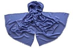 Палантин фиолетовый из шелка 4736