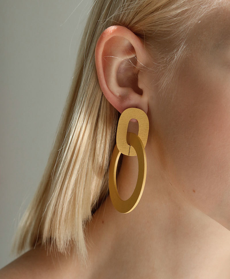 Серьги Orla II Earrings in Straw