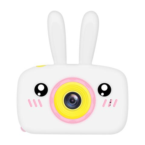 Фотоаппарат детский SmileZoom Зайчик с селфи-камерой / Белый