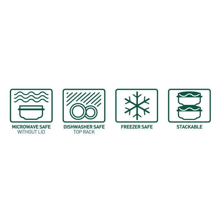 """Контейнер пищевой Sistema """"Renew"""", двойной, 350 мл, цвет Светло-зеленый"""