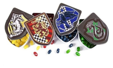 Набор Jelly Belly Harry Potter Эмблемы Факультетов Хогвардса 4х28 гр