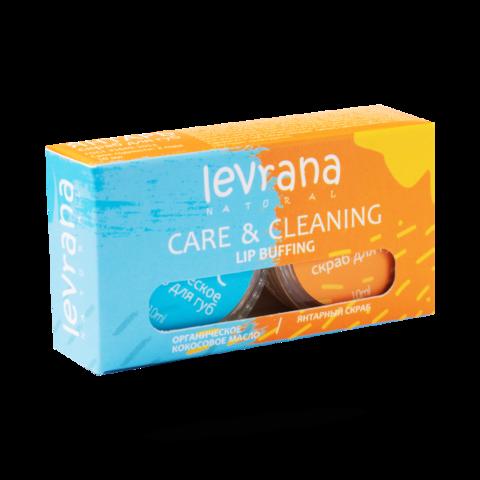 Levrana Скраб+органическое масло для губ, 10+10гр