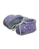 Ботиночки из фетра в горошек - Сиреневый / горох. Одежда для кукол, пупсов и мягких игрушек.