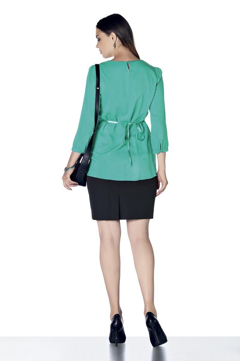 Блузка для беременных 01401 зеленый