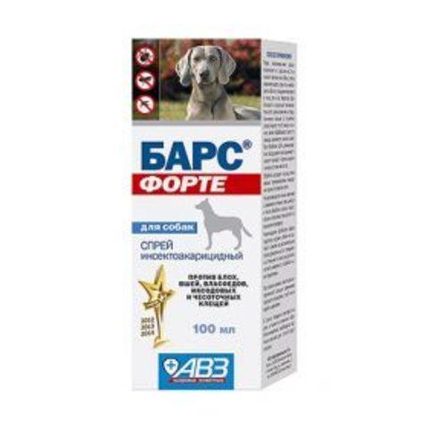 Барс Форте Спрей инсектоакарицидный для собак (100 мл)