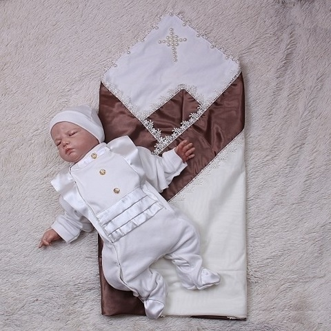 Крестильный набор Жемчуг Фрак (шоколад\молоко)