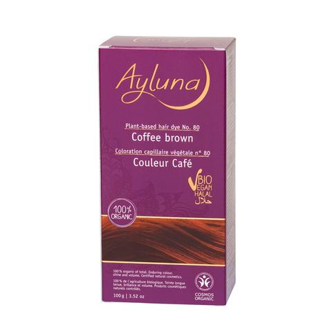 АИЛУНА Краска для волос №80 «КОФЕЙНЫЙ КОРИЧНЕВЫЙ» растительная, 100 г