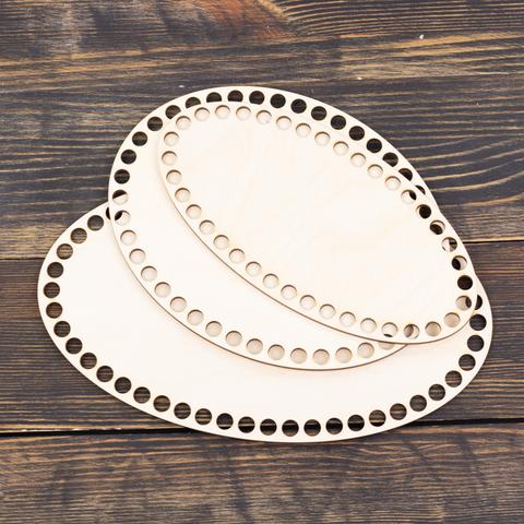 Набор из 3 донышек эллипс из фанеры 25×15, 20×15, 20×10 см (нешлифованные)
