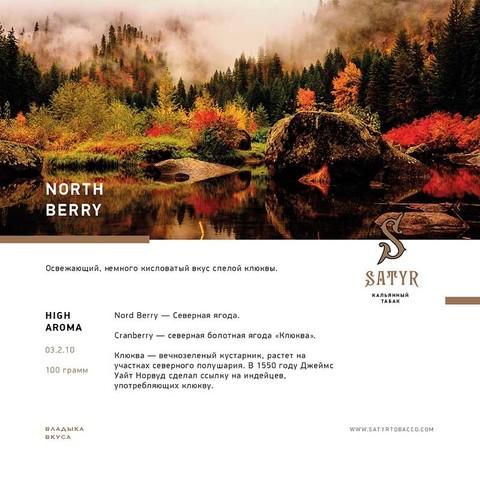 Табак Satyr North Berry (северная ягода) 100г