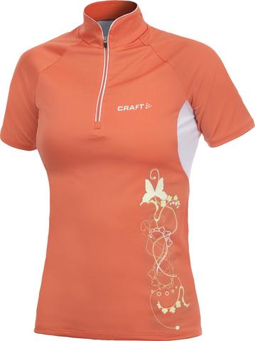 Футболка Craft Active женская (с молнией) красная