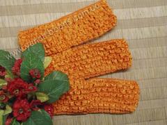 Повязка ажурная оранжевая ширина 4 см