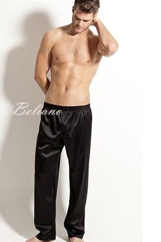 Шелковые мужские брюки из натурального шелка. Цвет черный