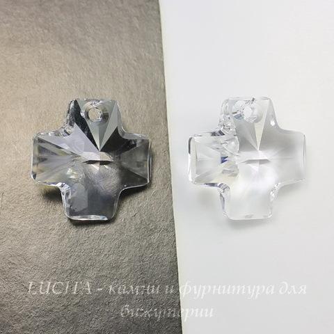 6866 Подвеска Сваровски Крестик Crystal (20 мм)