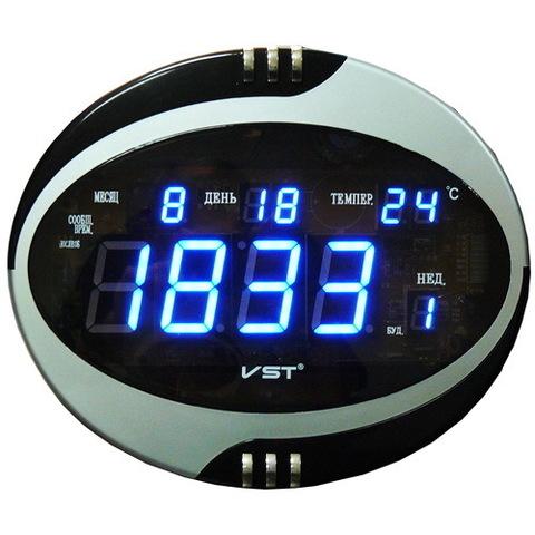 Часы сетевые VST-770T-5 синие, пульт ДУ