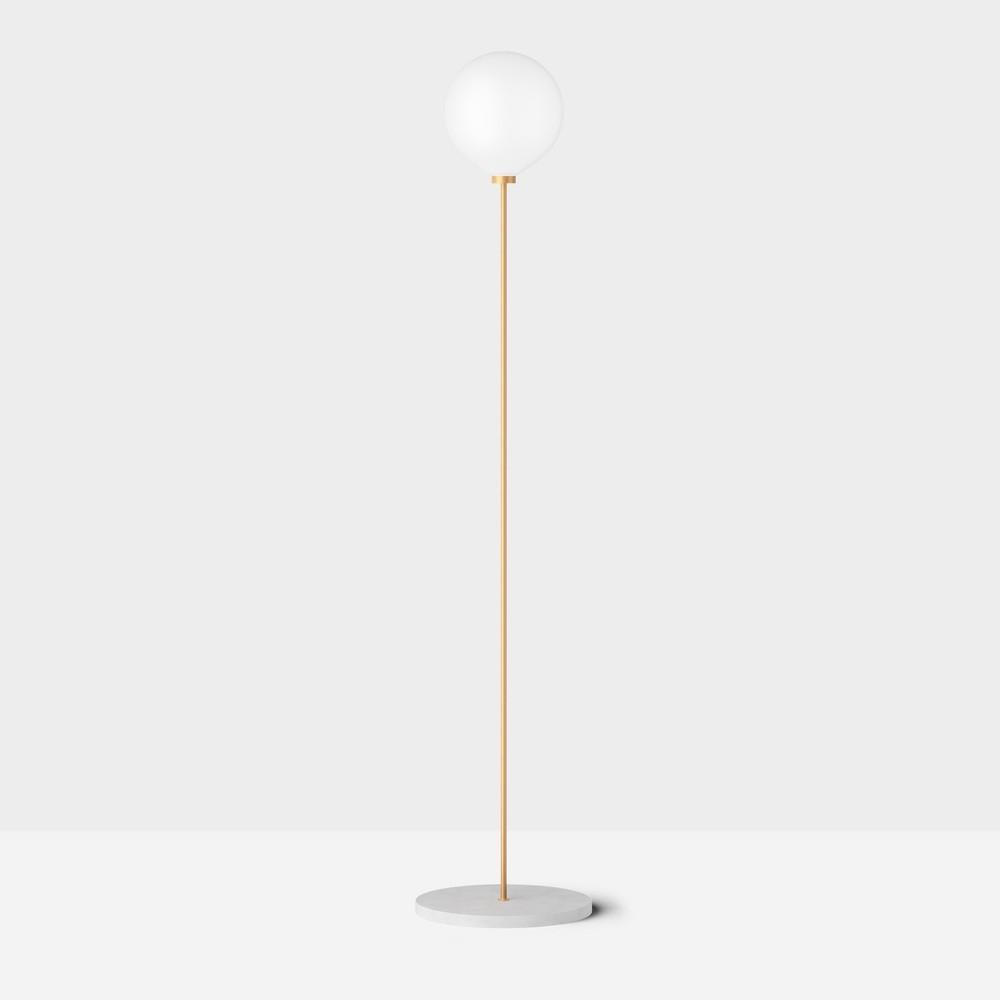 Напольный светильник Onis белый мрамор - вид 1