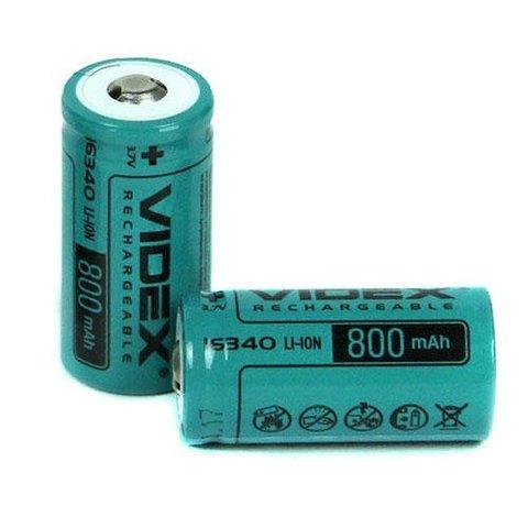 Аккумуляторы 16340 Videx 800mAh (Li-ion)