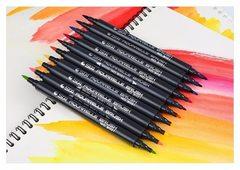 Набор двусторонних акварельных маркеров STA 3110, 80 цветов