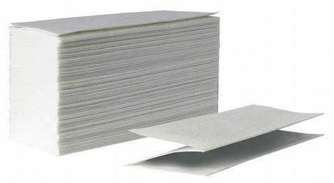Бумажные полотенца листовые V (ZZ) сложение, 2 слоя, 23*22 см, белые, 200 шт/упак