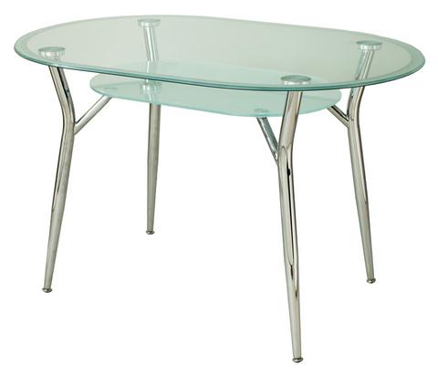 Овальный стеклянный стол на кухню А6О