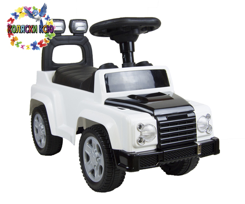 Машина-каталка Land Rover белый
