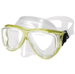Silicone Mask , Dual Windows, w/ tempered glass,junior, yellow