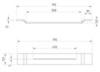 Полочка для ванны ABBER XA-P060 схема