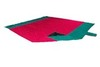 Картинка пляжное покрывало Ticket to the Moon Beach Blanket Red/Emerald Green - 1