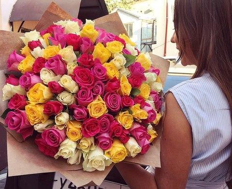 101 роза 50 см #1443
