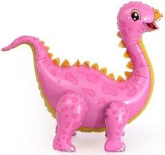 Ходячий шар Динозавр Стегозавр розовый