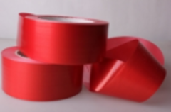 Лента простая (5см*50м) Гладкая без тиснения Красная