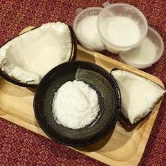 Сухой кокосовый скраб для лица и тела,Tropicana