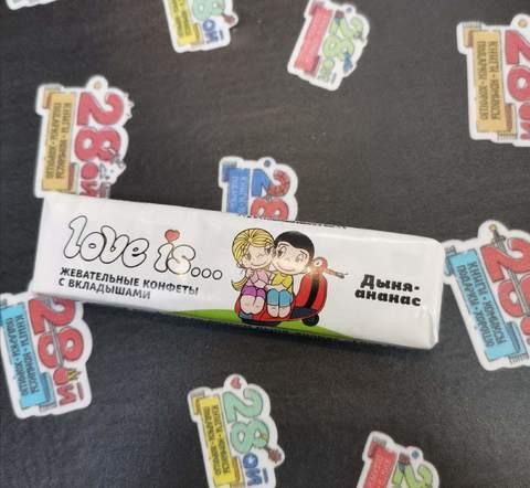 Жевательная конфета Love Is (Дыня-Ананас)