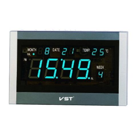 Часы сетевые VST-771T-5 синие + пульт