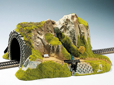 Макет туннеля - горная речка, (прямой)