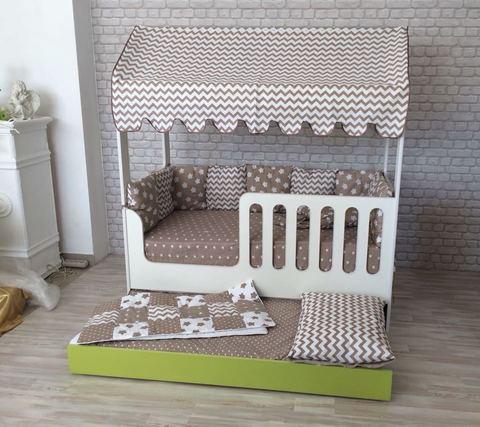 Кровать-домик со вторым выдвижным местом