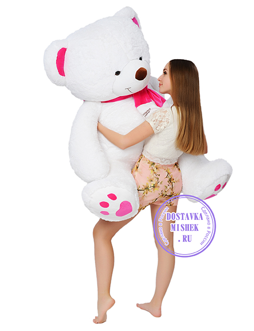 Плюшевый мишка Альфред 130 см белый