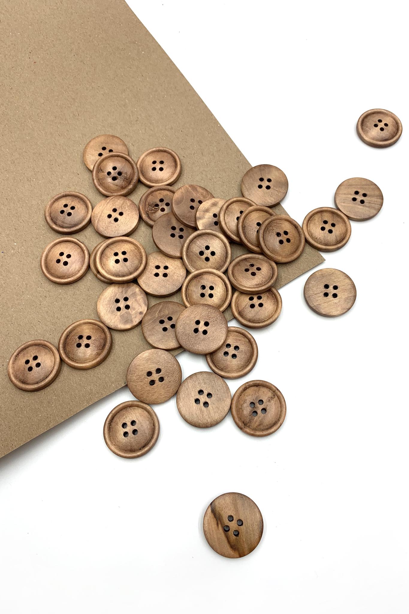 Пуговица деревянная2; 19 мм