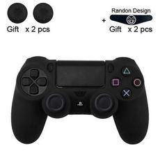 Чехол для геймпада DualShock 4 (черный) + накладки