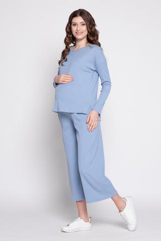 Костюм для беременных 12359 голубой