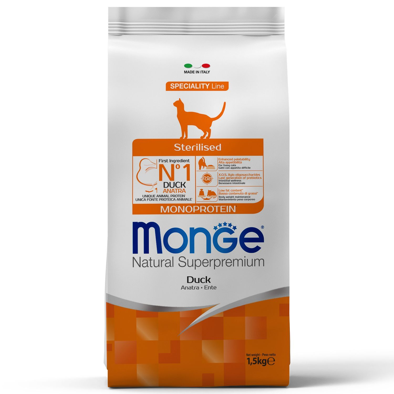 Monge Корм для для стерилизованных/кастрированных кошек Monge Monoprotein Sterilised Duck с уткой 70011952_1.jpeg