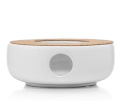 """Подставка-нагреватель """"Prometheus"""" для подогрева чайника свечой белая, керамическая"""