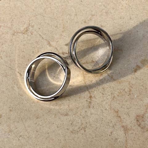 Серьги Стилия 3 см, серебряный цвет