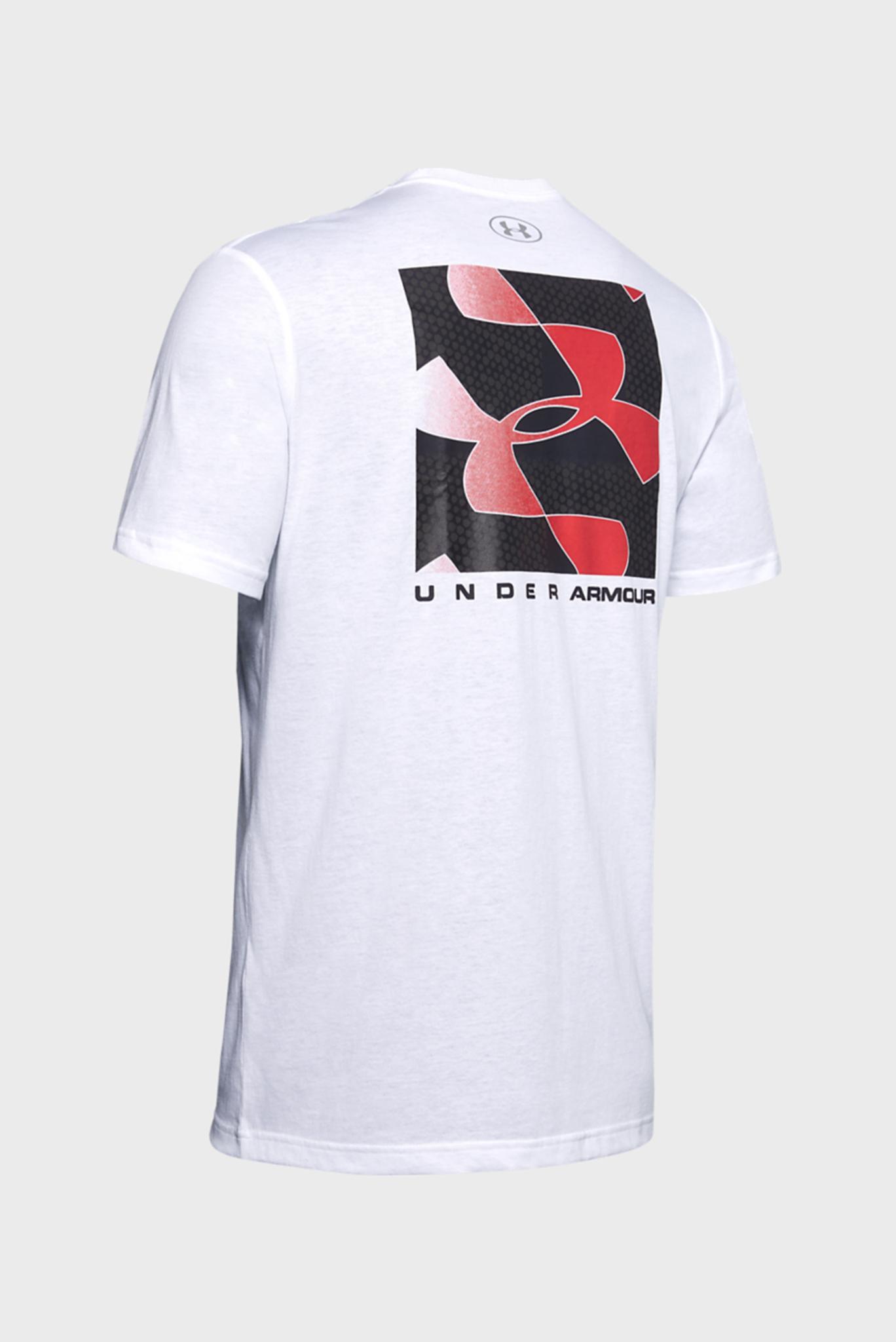 Мужская белая футболка с принтом UA REFLECTION SS Under Armour