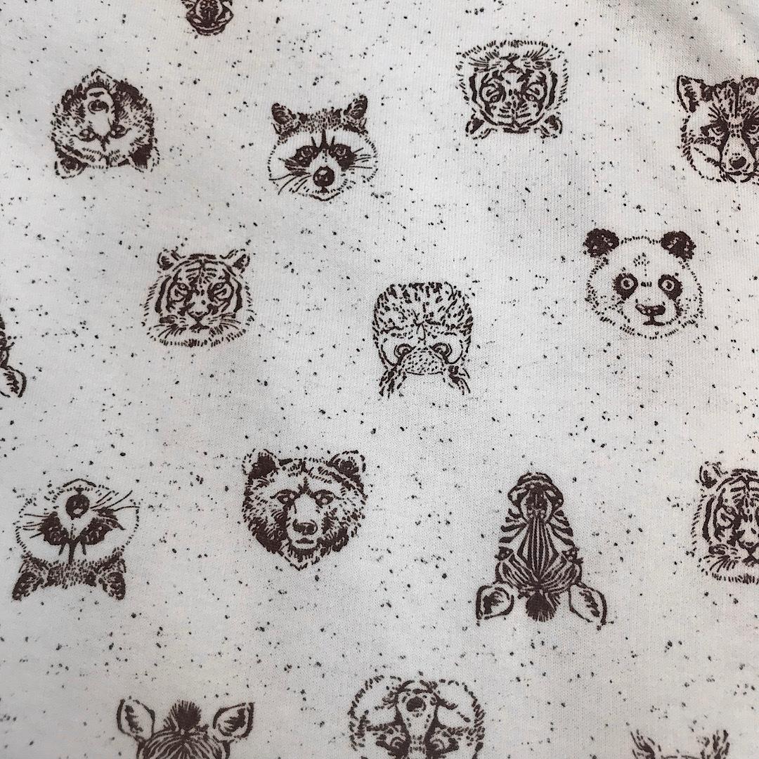 ФЛАНЕЛЬ зоопарк - детская простыня на резинке 65х125