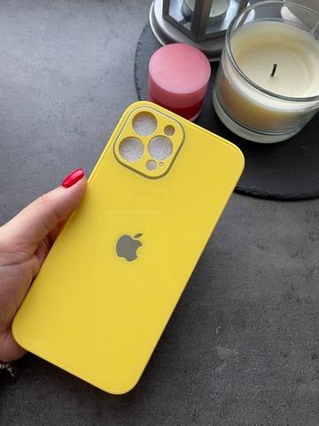 Чехол iPhone 12 /6,1''/ Glass Pastel Full Camera /yellow/