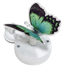 Светильник садово-парковый на присоске на солнечной батарее «Бабочка» зеленый, 1 RGB LED, 46*30*42мм, PL264 (Feron)