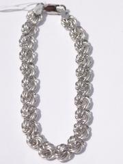 Розочка пустотелая 0,8 (серебряный браслет )