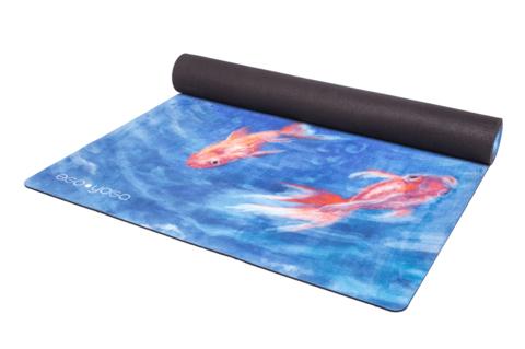 Коврик для йоги Ocean EgoYoga из микрофибры и каучука 183*66*0,3 см